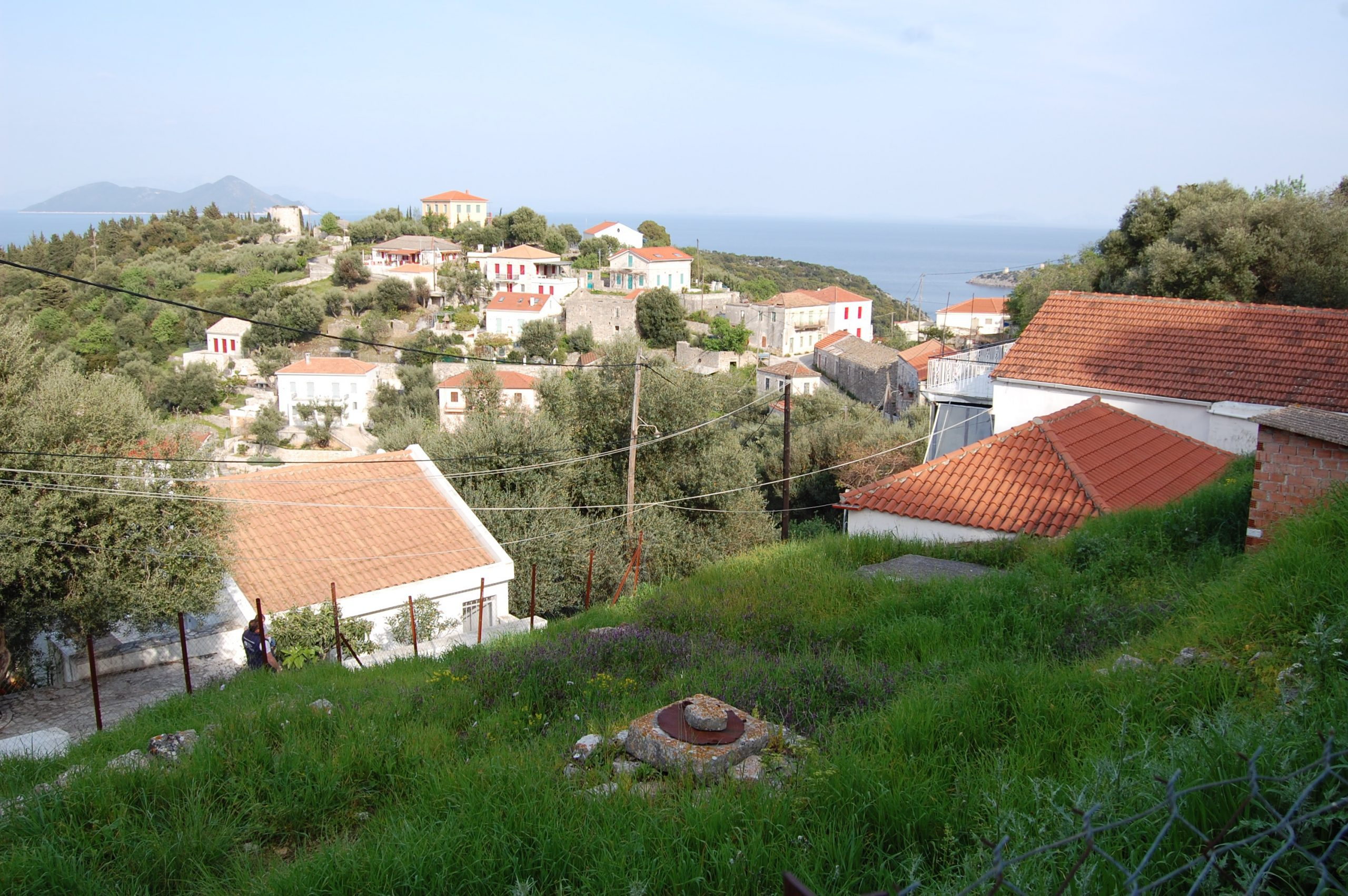 Exterior view of house for sale in Ithaca Greece