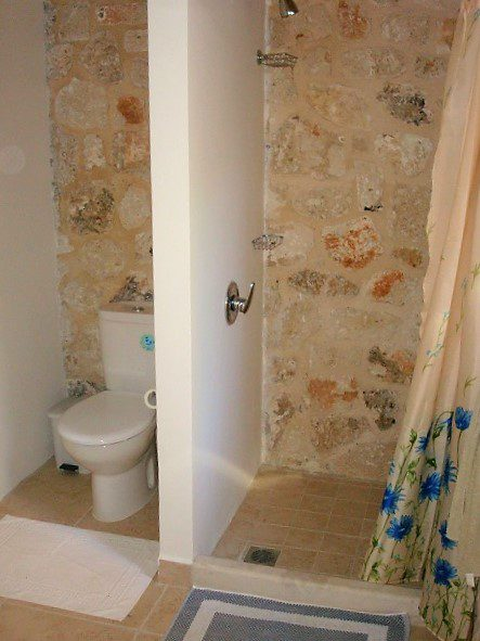 Interior bathroom of Kouvarata for rent MV Properties Ithaca Greece