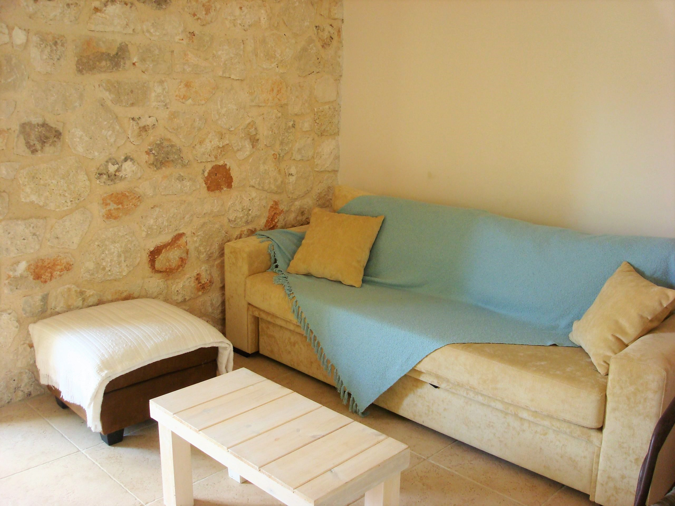 Interior living room of Kouvarata for rent MV Properties Ithaca Greece