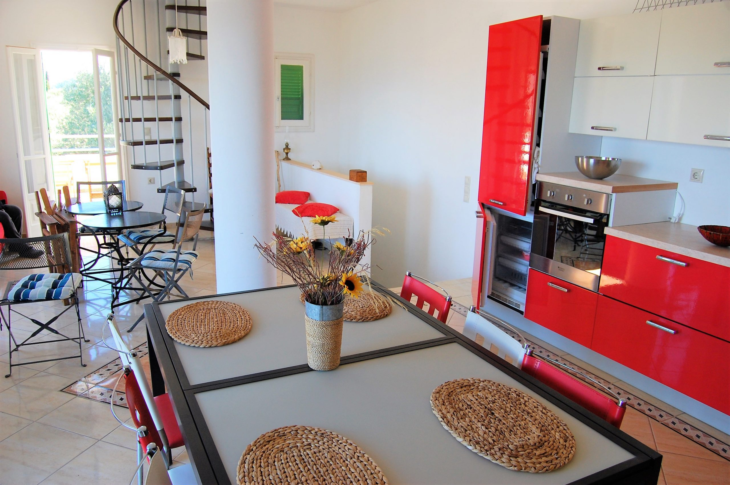 Interior of Afales Villa to rent MV Properties Ithaca Greece
