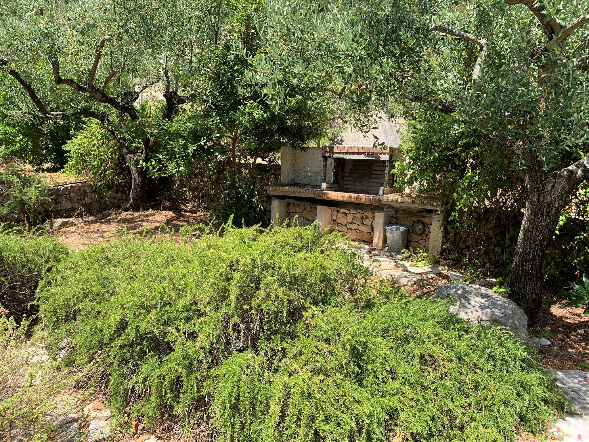 Barbecue outside area of property for sale in Ithaca Greece Vathi