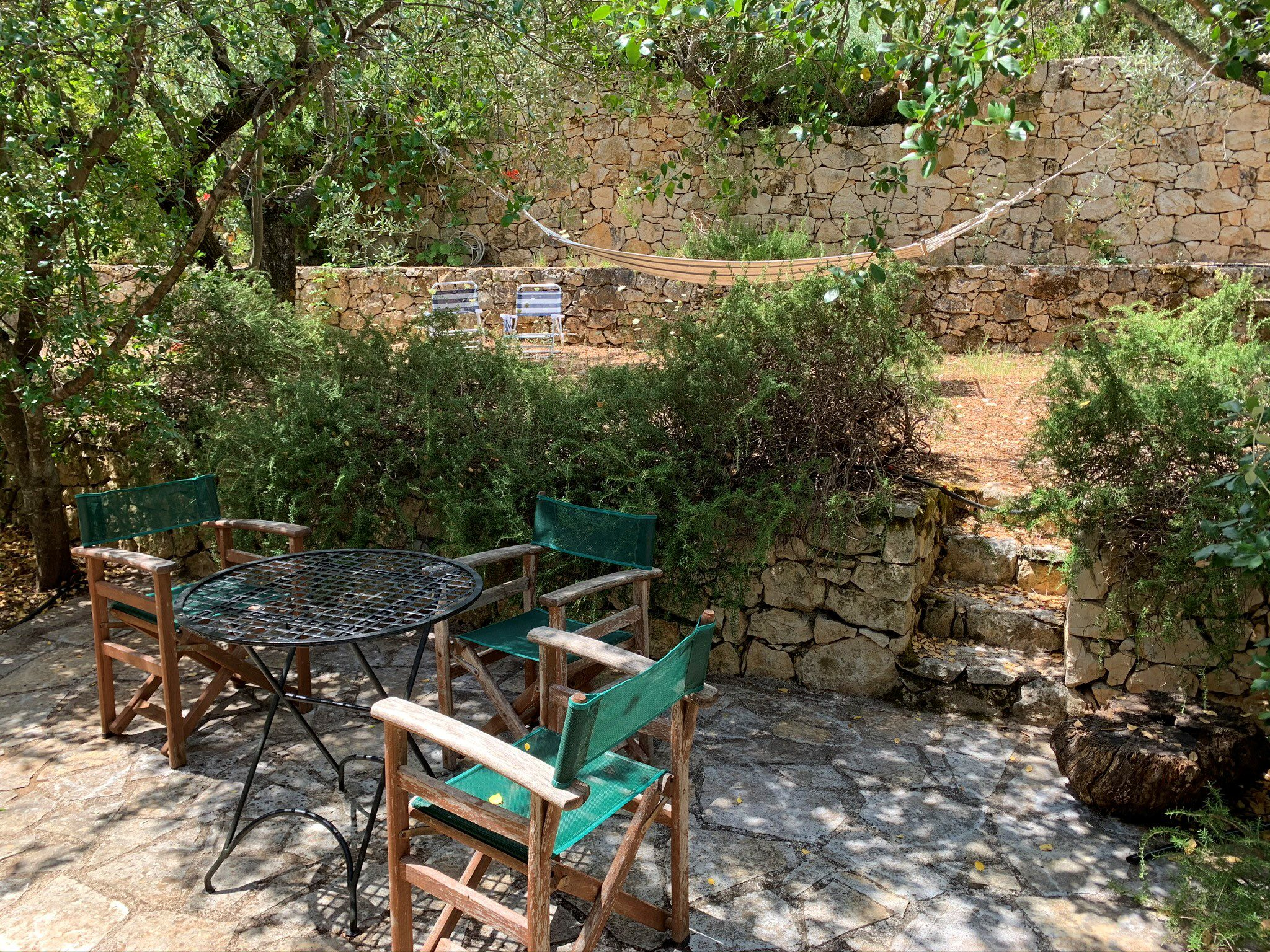 Outside terrace area of property for sale in Ithaca Greece Vathi