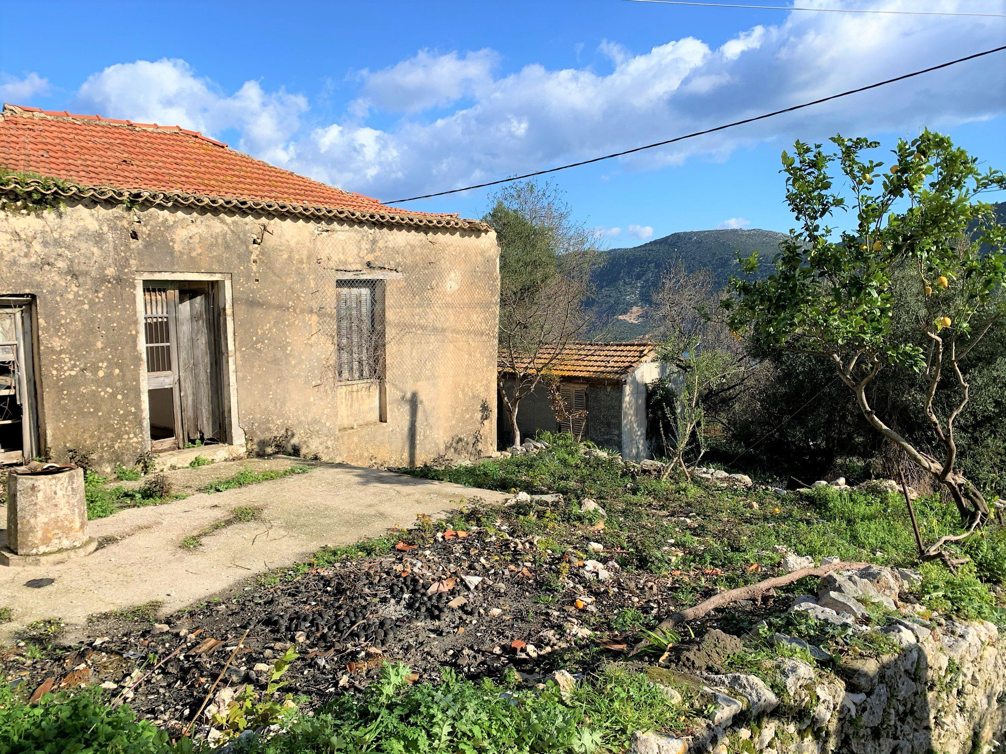 Exterior facade of house for sale in Ithaca Greece Kolleri
